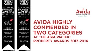 Avida Land Bags int'l recognition from Asia Pacific Property Awards