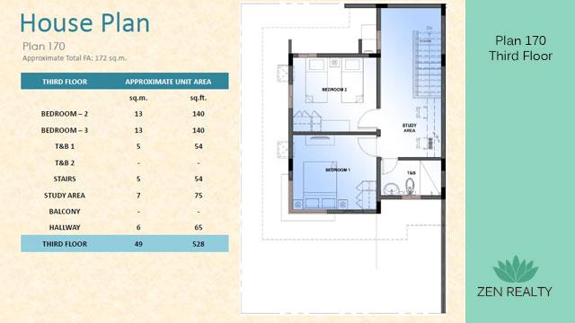 Plan 170 - Third Floor